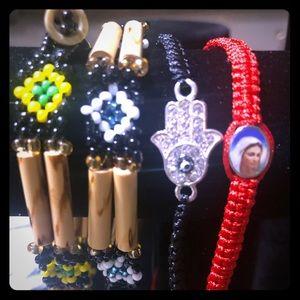 A set of four handmade bracelets